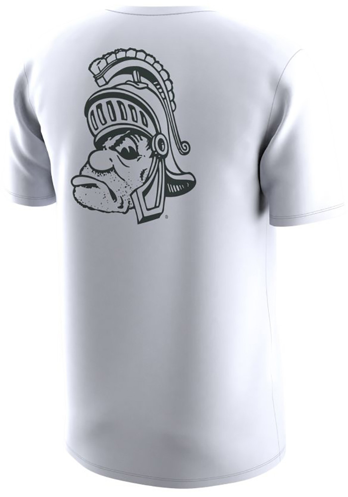 Nike Michigan State Spartans White Sparty Short Sleeve T Shirt - Image 2