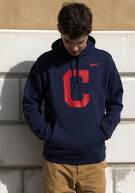 timeless design be622 604ac Nike Cleveland Indians Navy Blue Franchise Hoodie