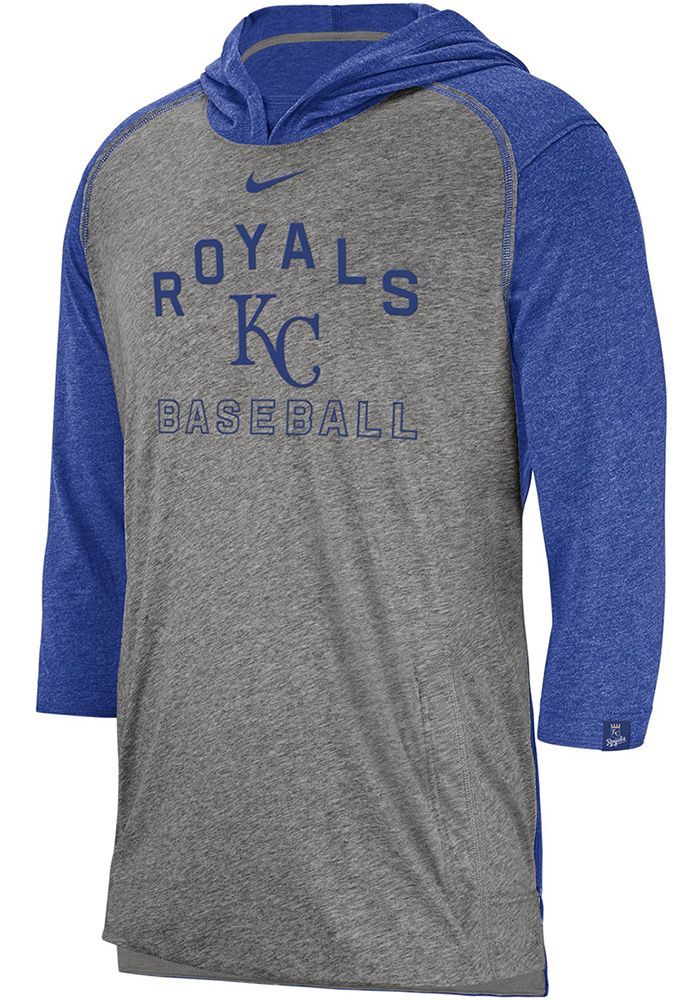 Nike Kansas City Royals Mens Grey Flux Fashion Hood - Image 1