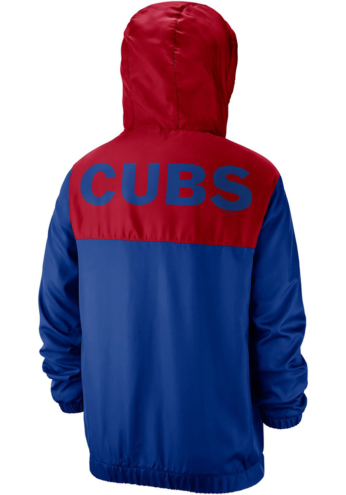 Nike Chicago Cubs Mens Blue Anorak Light Weight Jacket - Image 1