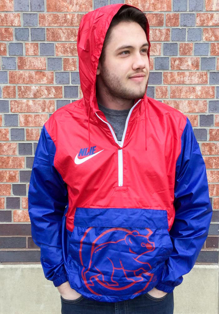 Nike Chicago Cubs Mens Blue Anorak Light Weight Jacket - Image 2