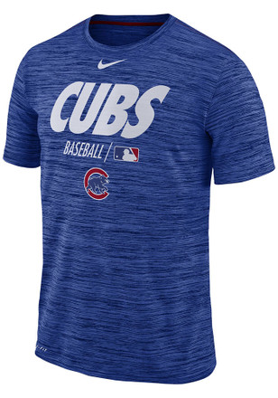 Nike Chicago Cubs Blue AC Velocity Team Issue Tee 697a984393