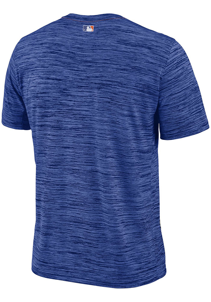 Nike New York Mets Blue AC Velocity Team Issue Short Sleeve T Shirt - Image 2
