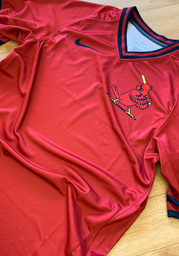 St Louis Cardinals Nike V-Neck Legend Cooperstown Jersey - Red