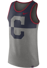 Cleveland Indians Nike Dry Tee Tank Top - Grey