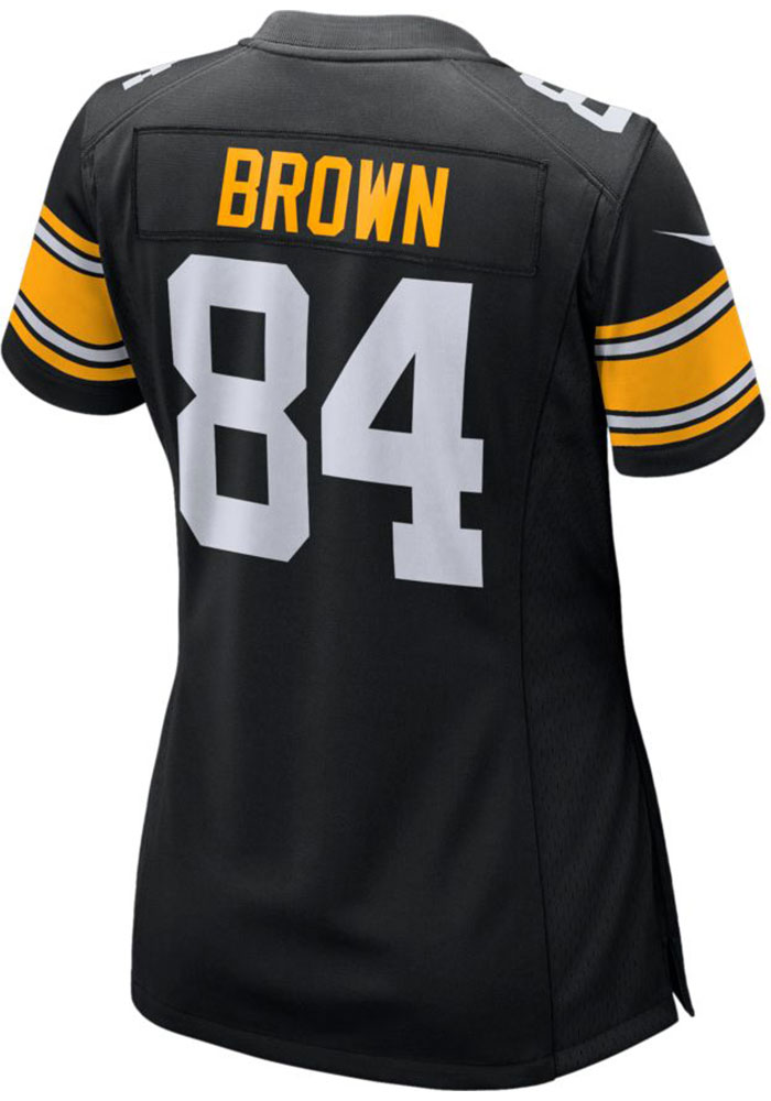 81e8ba1f5 Antonio Brown Nike Pittsburgh Steelers Womens Black Game Jersey Alt Football  Jersey - Image 1
