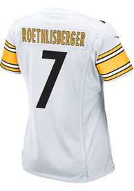 Ben Roethlisberger Pittsburgh Steelers Womens Nike Road Game Football Jersey - White