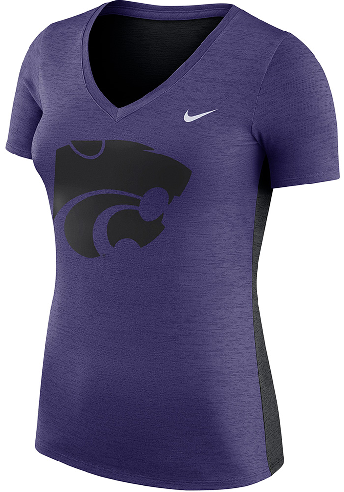Nike K-State Wildcats Womens Purple Touch T-Shirt - Image 1