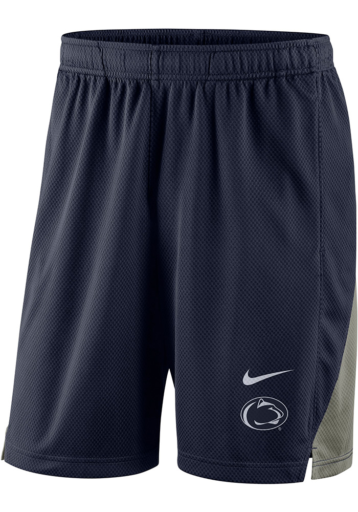 Nike Penn State Nittany Lions Mens Navy Blue Franchise Shorts, Navy Blue, 100% POLYESTER, Size L