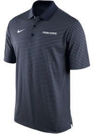 Penn State Nittany Lions Nike Striped Polo Shirt - Navy Blue