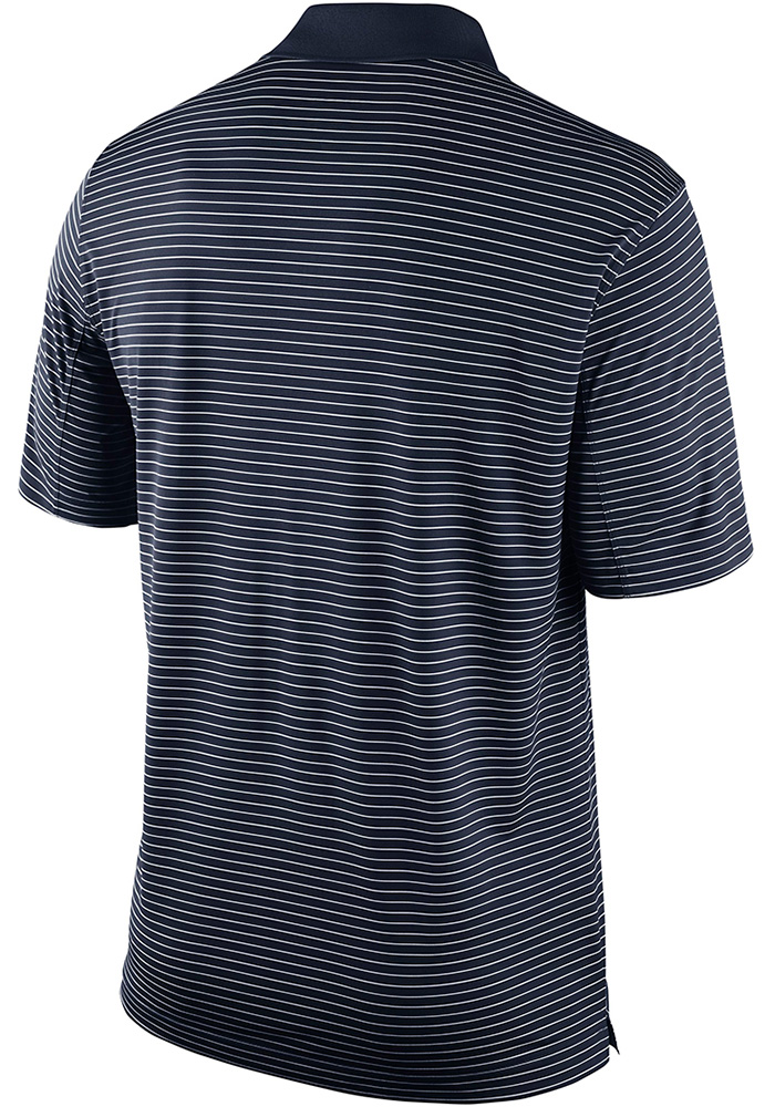 Nike Penn State Nittany Lions Mens Navy Blue Striped Short Sleeve Polo - Image 2