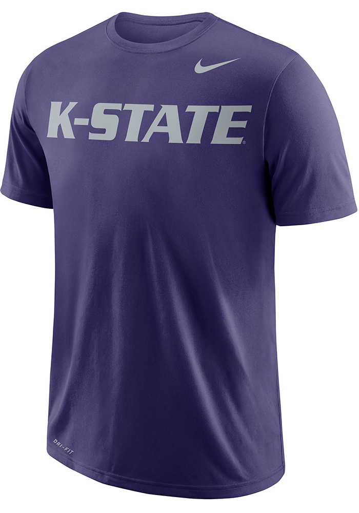 Nike K-State Wildcats Purple Wordmark Tee