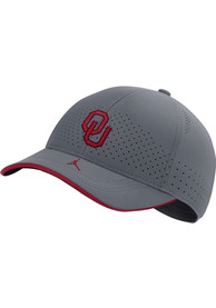 Oklahoma Sooners Nike Jordan Aero L91 Sideline Adjustable Hat - Grey