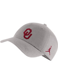Oklahoma Sooners Nike Jordan H86 Logo Adjustable Hat - Grey