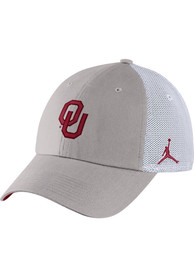 Oklahoma Sooners Nike Jordan H86 Trucker Adjustable Hat - Grey