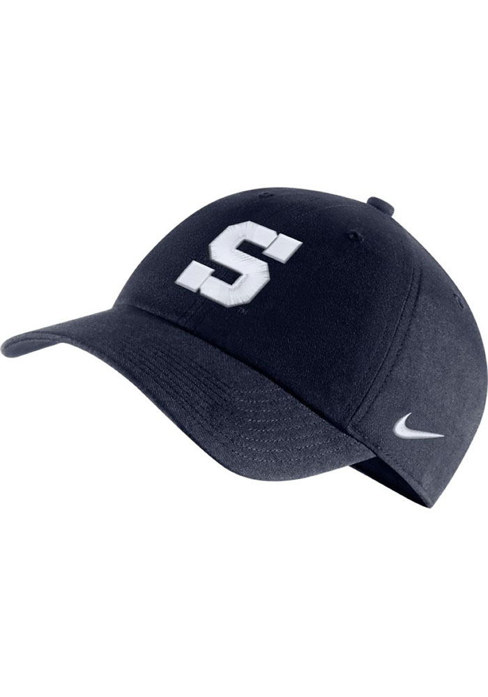 Nike Penn State Nittany Lions Heritage 86 S Logo Adjustable Hat - Navy Blue - Image 1