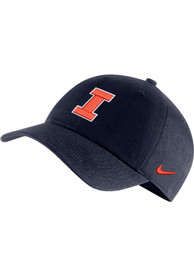 Illinois Fighting Illini Nike H86 Logo Adjustable Hat - Navy Blue
