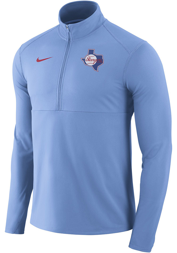Nike Texas Rangers Light Blue Element 1/4 Zip Pullover