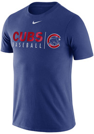 Chicago Cubs Nike Practice T Shirt - Blue