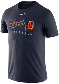Detroit Tigers Nike Practice T Shirt - Navy Blue