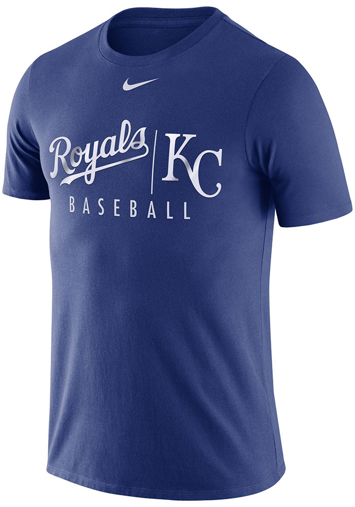Kansas City Royals Nike Practice T Shirt - Blue