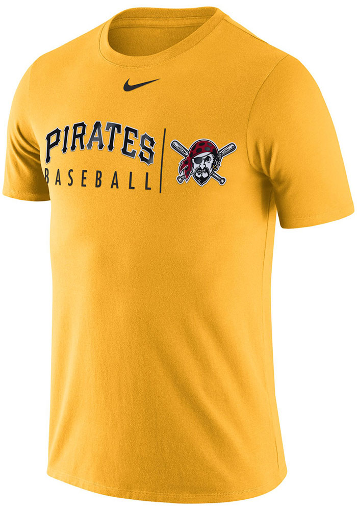 a85eec542c095 Nike Pittsburgh Pirates Mens Gold Practice Short Sleeve T Shirt - Image 1