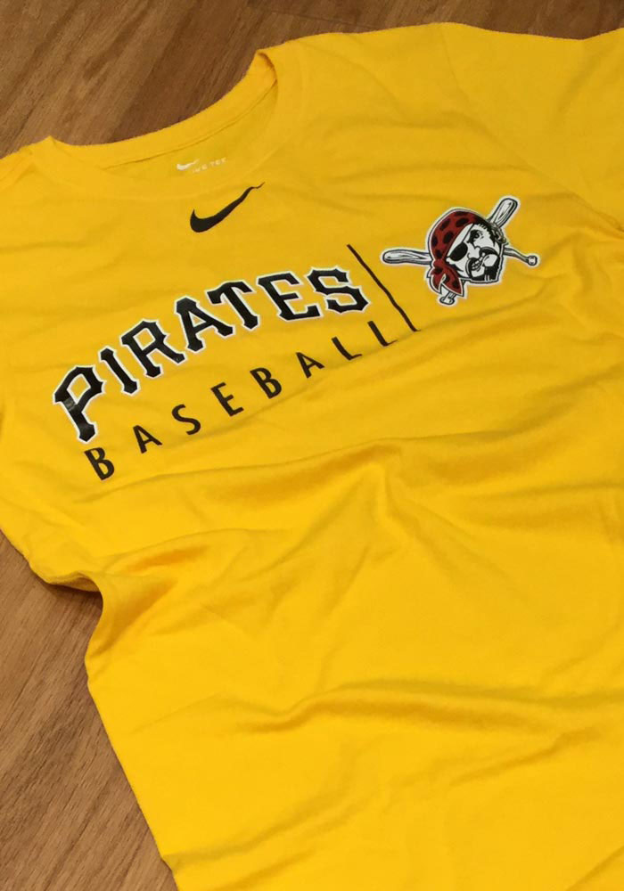 66c6a64e64465 Nike Pittsburgh Pirates Mens Gold Practice Short Sleeve T Shirt - Image 2