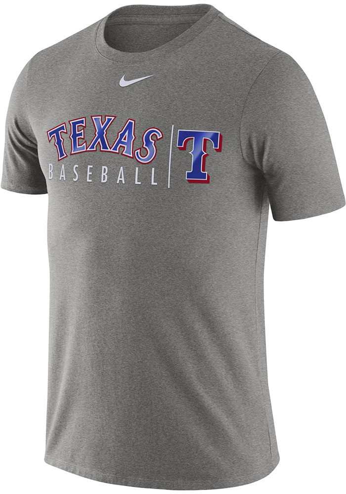 Nike Texas Rangers Mens Grey Practice Short Sleeve T Shirt - Image 1