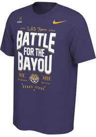 LSU Tigers Nike 2019 College Football Playoff Bound T Shirt - Purple