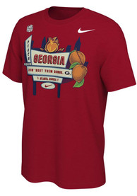 Georgia Bulldogs Nike 2020 Peach Bowl Bound T Shirt - Red