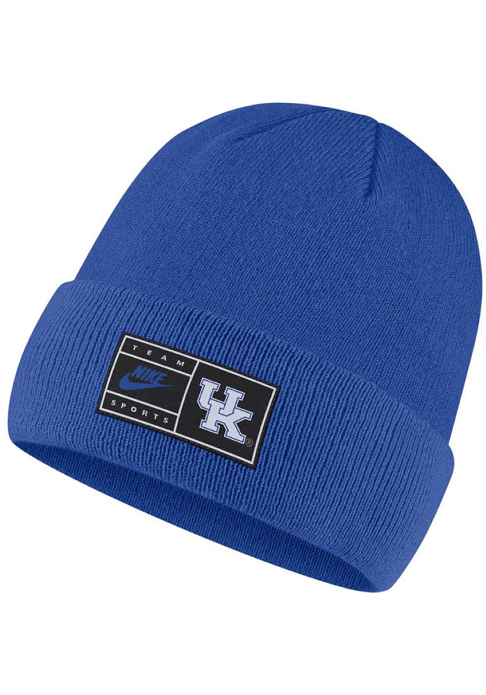 Nike Kentucky Wildcats Blue Patch Cuffed Mens Knit Hat - Image 1