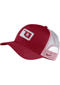Oklahoma Sooners Nike C99 Trucker Adjustable Hat - Crimson