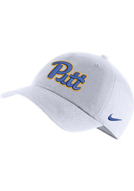 Pitt Panthers Nike H86 Logo Adjustable Hat - White