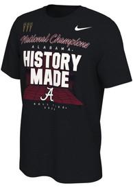 Alabama Crimson Tide Nike 2020 Alabama National Champions T Shirt - Black