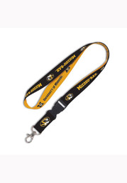 Missouri Tigers 2 Color Buckle Black Lanyard