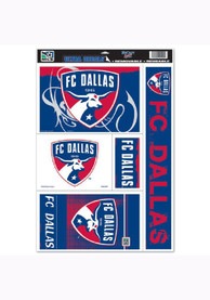 FC Dallas 11x17 Multi-Use Sheet Auto Decal - Red