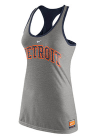 Detroit Tigers Womens Nike Cooperstown Tank Top - Grey