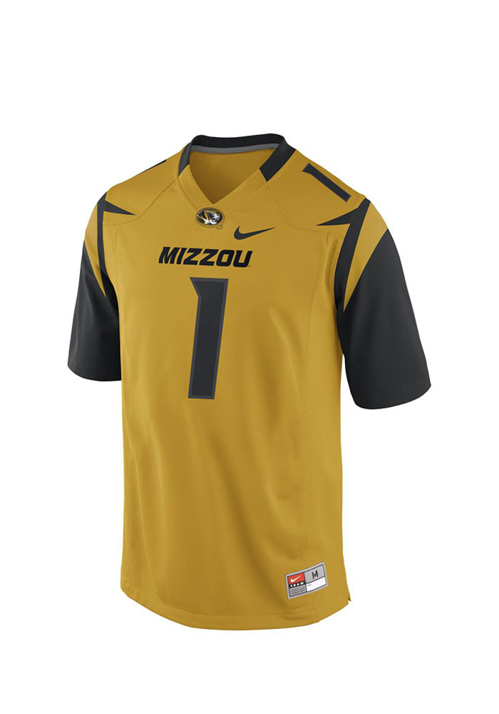 Nike Missouri Tigers Mens Gold 2015 Master Football Jersey - Image 1