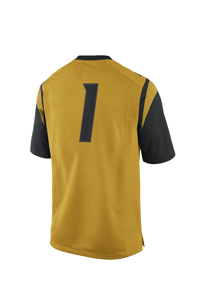 Nike Missouri Tigers Mens Gold 2015 Master Football Jersey - Image 2
