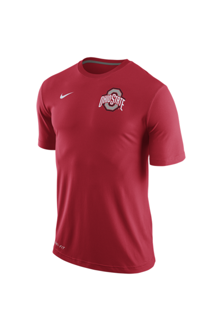 Nike ohio state buckeyes mens red stadium touch short for Ohio state shirts mens