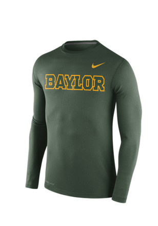 Nike Baylor Bears Mens Green Stadium Touch Tee