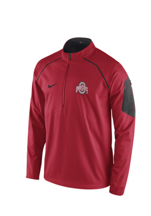 Nike Ohio State Buckeyes Mens Red Alpha Fly Rush Pullover