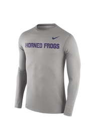 TCU Horned Frogs Mens Stadium Touch grey Performance Tee