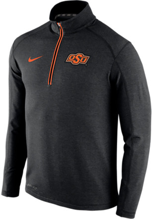 Nike Oklahoma State Cowboys Mens Black Game Day Knit Top 1/4 Zip Pullover