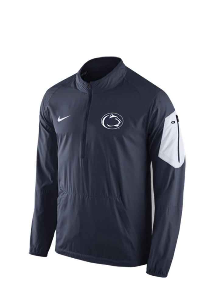 1f17dfb4e Nike Penn State Nittany Lions Mens Navy Blue Lockdown 1 4 Zip Pullover  Jackets -