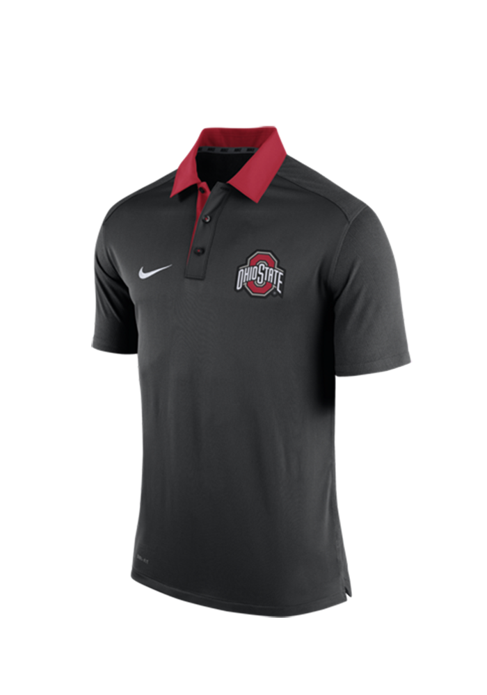 Nike Ohio State Buckeyes Mens Black 2015 Coaches Polo Short Sleeve Polo - Image 1