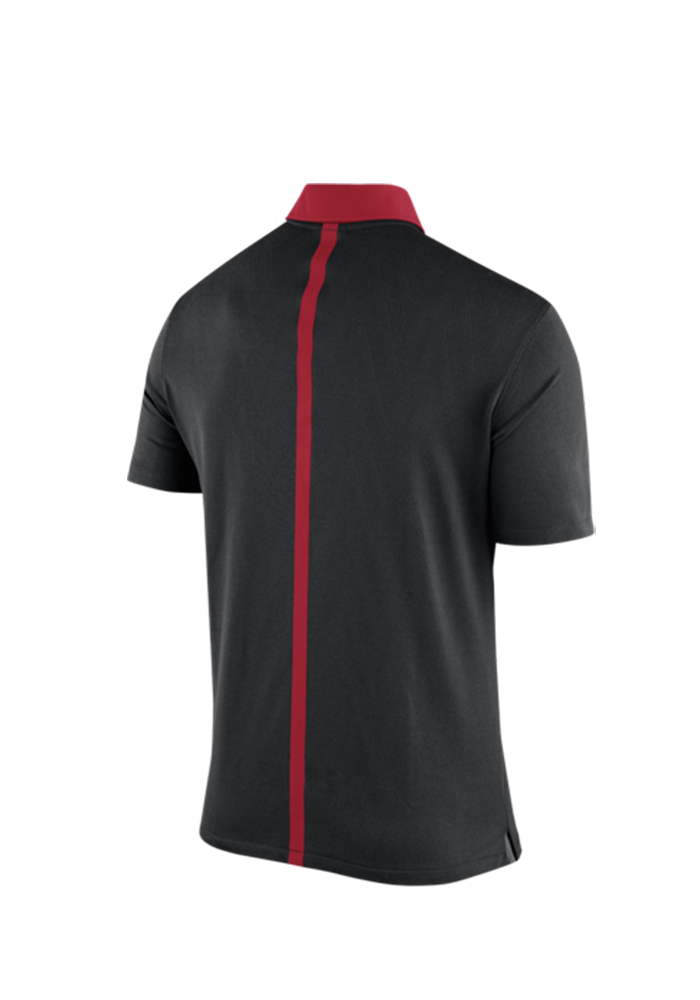 Nike Ohio State Buckeyes Mens Black 2015 Coaches Polo Short Sleeve Polo - Image 3