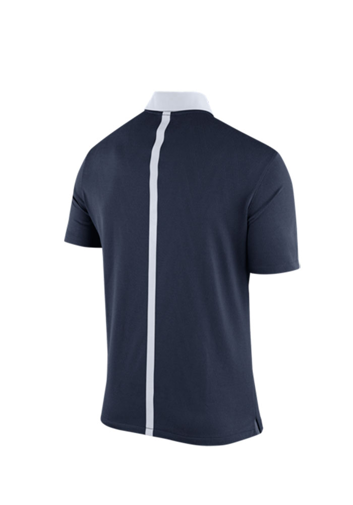 Nike Penn State Nittany Lions Mens Navy Blue 2015 Coaches Polo Short Sleeve Polo - Image 2