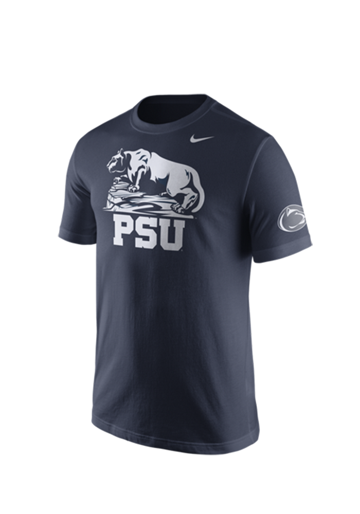 Nike Penn State Mens Navy Blue Campus Elements Tee 12514393