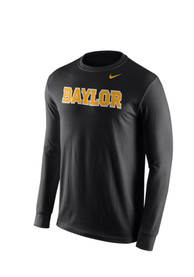 Nike Baylor Bears Black Wordmark Tee Tee